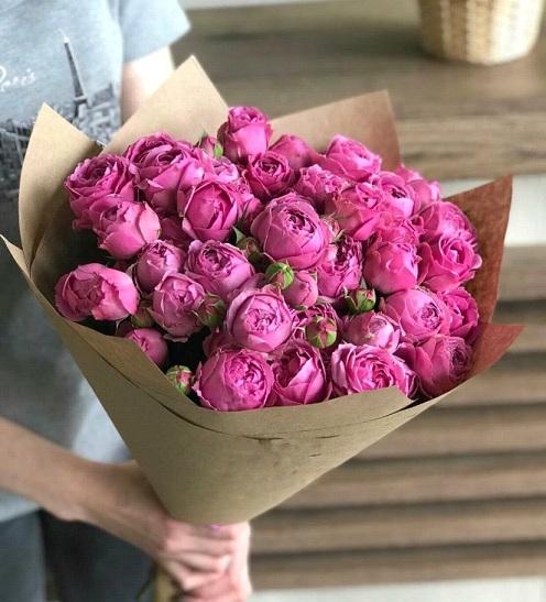 Букет из роз сорт Мисти баблз